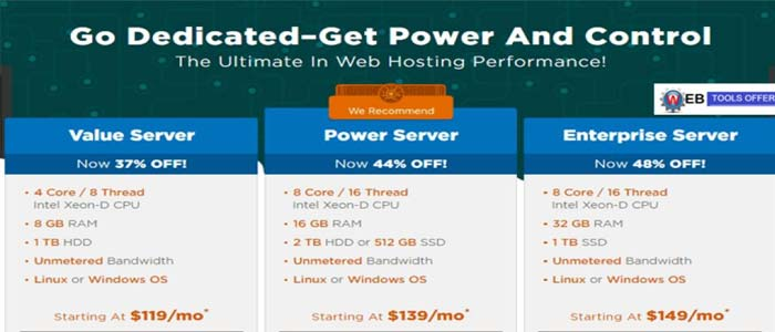 Hostgator Dedicated Hosting Plans types