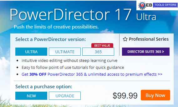 POWER DIRECTOR 17 Discount coupon