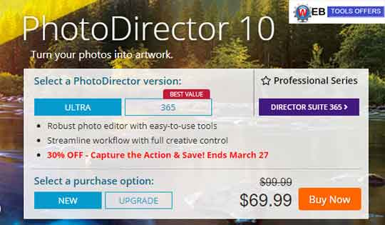 PhotoDirector 10 Discount Coupons