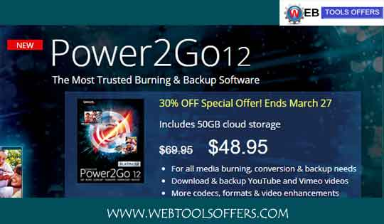 Cyberlink Power2GO Discount Coupons:Save 30% on amount