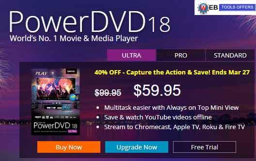 PowerDVD18 Discount Coupon