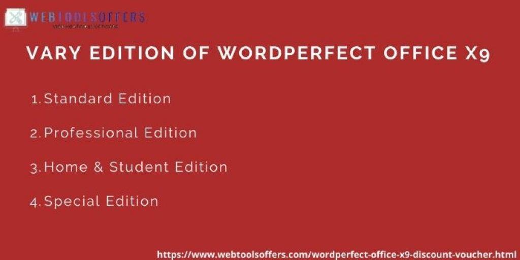WordPerfect Office X9 Discount