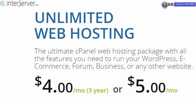 interserver web hosting discount