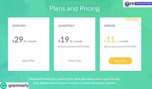 Grammarly Premium Plan