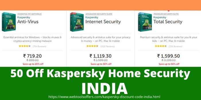 Kaspersky Discount Code India- Home Security