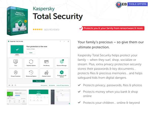 Kaspersky Total Security Discount Voucher