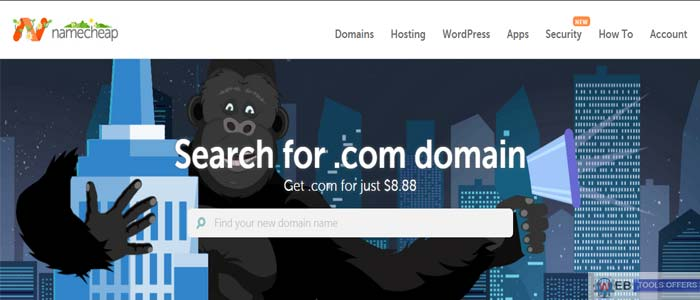 Namecheap .com Domain Registration Saving Deal