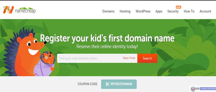 Namecheap Domain Name Registration Saving Deal