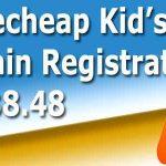 Namecheap kid's domain registration