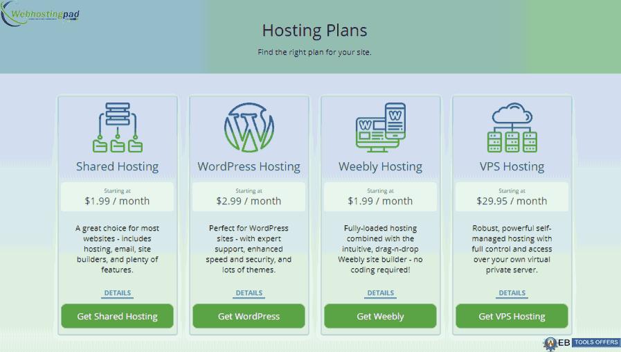WebhostingPad Discount offer