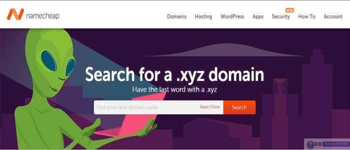 namecheap .xyz Domain Name registration Discount Code