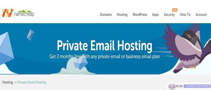 Namecheap Private Email Hosting Saving Deal