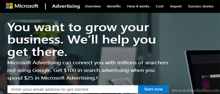 AUD$100 Bing Ads Free Credit