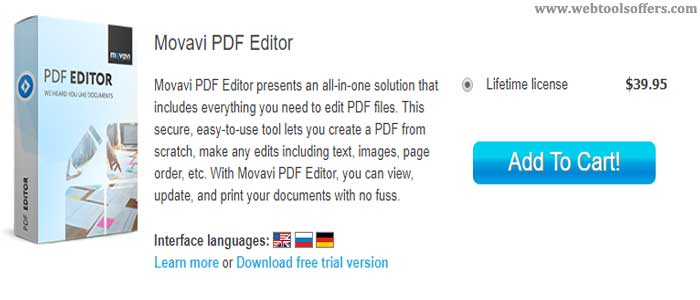 Movavi online PDF Editor