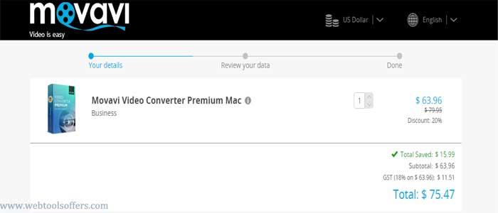 Movavi Video Converter Discount Deal