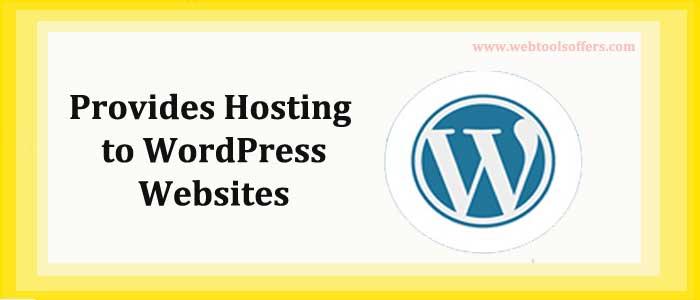 Provides Hosting to WordPress Websites