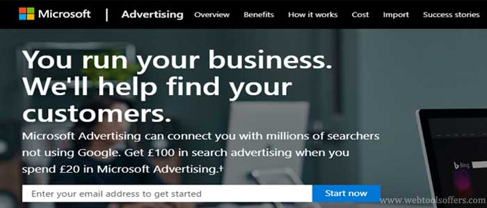 Get £100 Free Bing Ads Credit