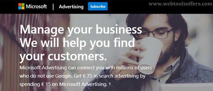Bing Ads latest offer