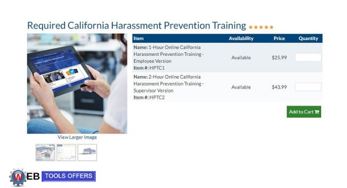 California Harassment Prevention Training