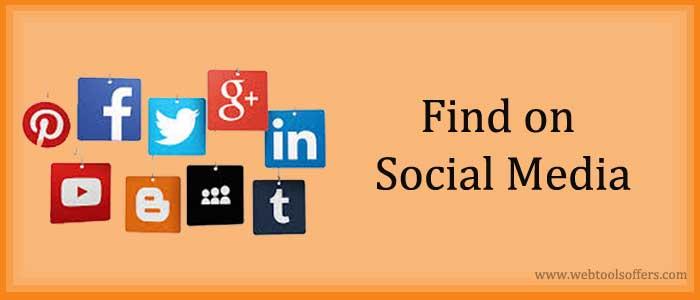 Find on Social Media