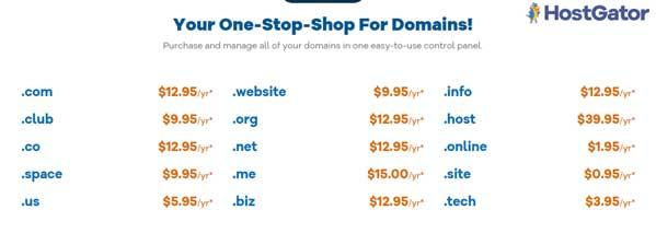 Hostgator Domain Plan