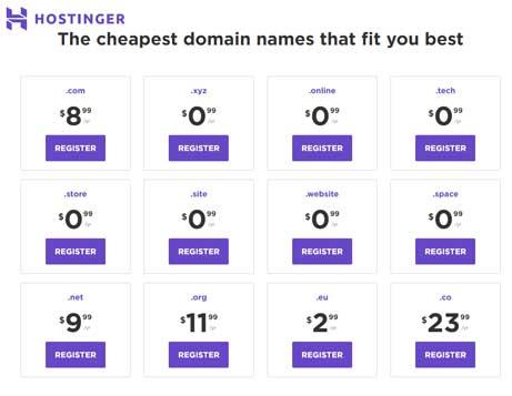 Hostinger Domain Plan