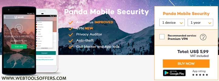 Panda Mobile Security Discount Deal