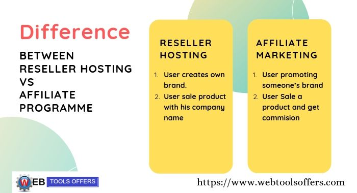 Difference between Hosting Reseller and Affiliate Programme