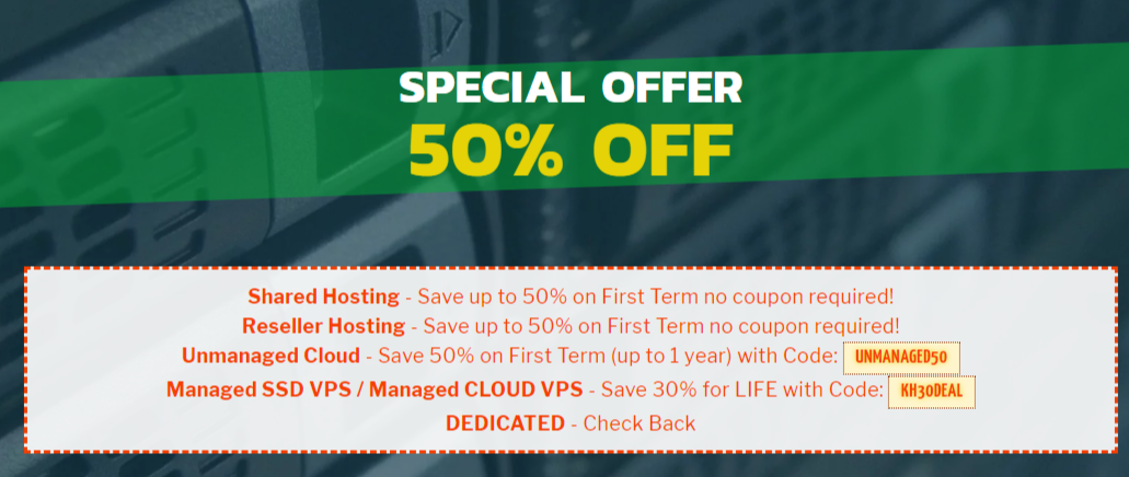 Knownhost special offer