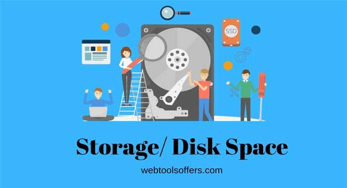 Storage/ disk space