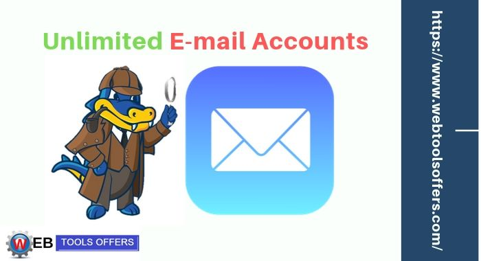 Unlimited email available on Hostgator