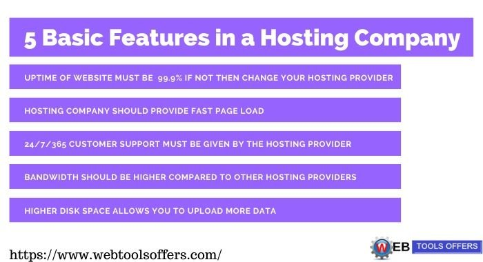 5 basic feature of hosting