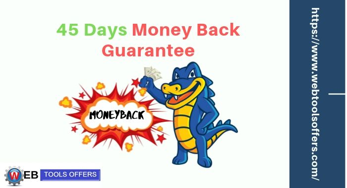 45 Days money back guarantee is one of the main reason to choose Hostgator