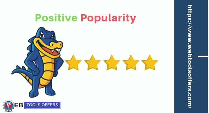 Hostgator popularity is positive and real time