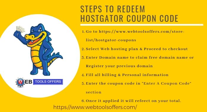 how to redeem HostGator coupon Code