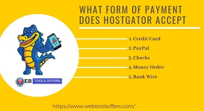 HostGator Payment accpet method