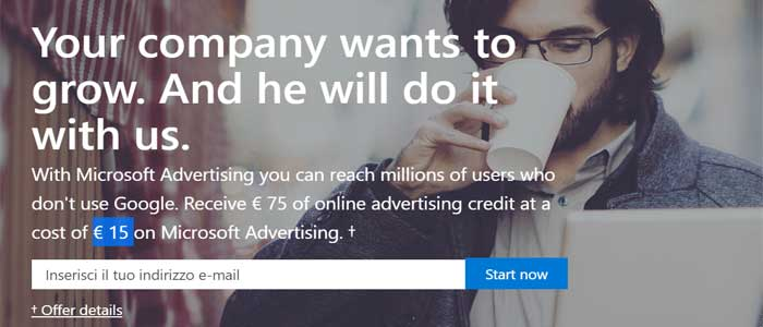 € 75 Bing Ads Free Credit