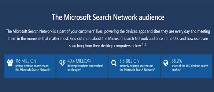 Microsoft search network audience