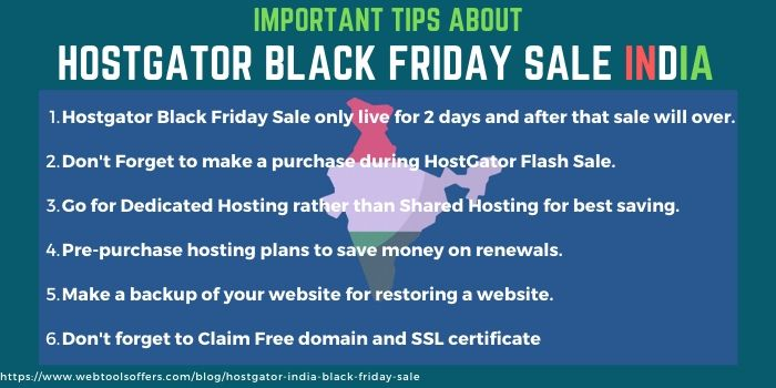 hostgator India black friday sale