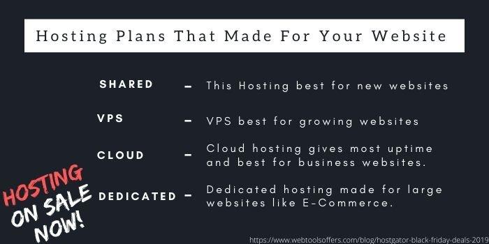 hostgator black friday offer plans that suits your website