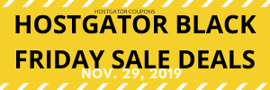 HOSTGATOR BLACK FRIDAY SALE DEALS