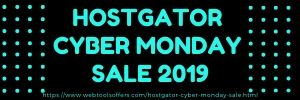 HOSTGATOR CYBER MONDAY SALE 2019