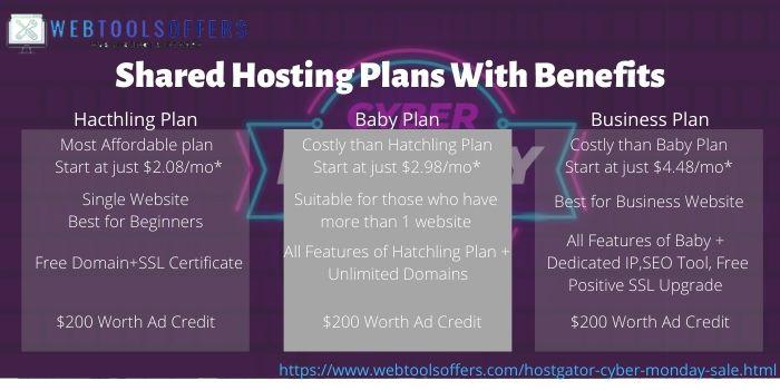 HostGator Cyber Monday Plans