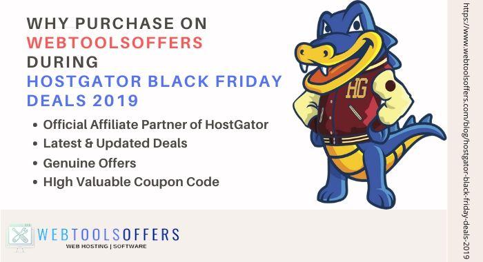 Why Choose WebToolsOffers For HostGator Black Friday sale 2019