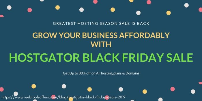 hostgator black friday 2019 sale