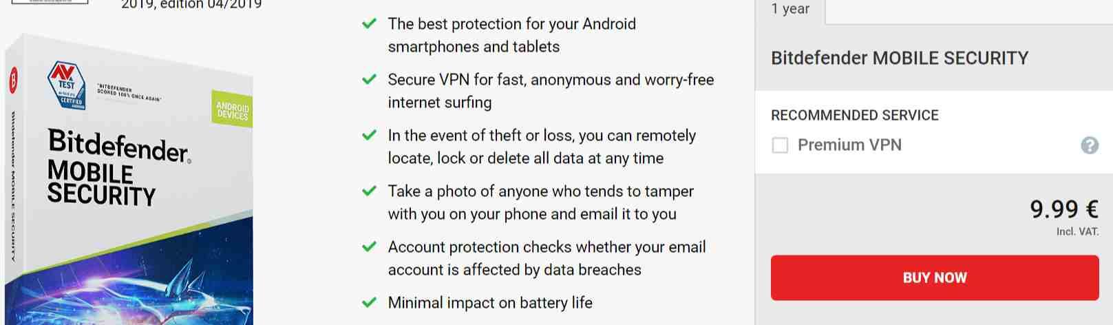 Bitdefender Mobile Security Gutscheincode