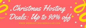 CHRISTMAS HOSTING DEALS AND OFFERS
