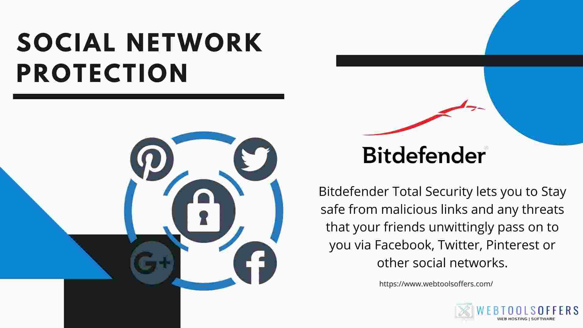 Bitdefender total Security Social network protection