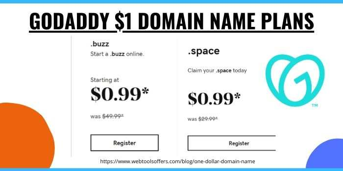 GoDaddy $1 Domain Name