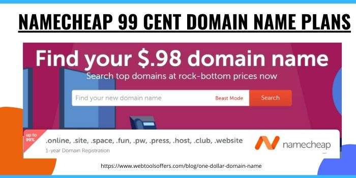 Namecheap 99 Cent Domain Name